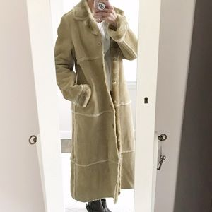 Brandon Thomas Full Length Suede Leather Coat